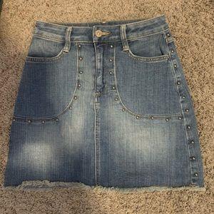 Arizona studded jean skirt
